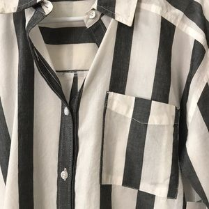 Brand new striped button down with pocket